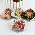 Womens Retro Rose Floral Kiss Lock Mini Wallet Change Keys Coin Purse Clutch Bag image