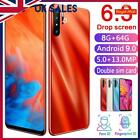 P30 8+64gb 6.3inch Mobile Phone Android 9.0 Unlocked Dual Sim Face Fingerprint