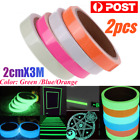 2pc*3m Luminous Tape Self-adhesive Glow In The Dark Safety Stage Home Decoration