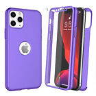 Ultra Thin Slim 360 Full Cover Shockproof Case +Tempered Glass Screen Protector