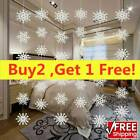 36/72pcs White Snowflakes Decorations Christmas Tree Hanging Party Ornaments