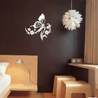 Mirror Wall Sticker Waterproof Removable Butterfly Living Room Decoration  Ls3
