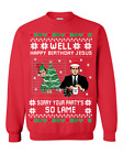 Happy Bday Jesus The Office Michael Scott Ugly Christmas Sweater Holiday Gift