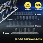 1-8 Bike Floor Parking Rack Bicycle Cycling Instant Storage Stand Portable Grey