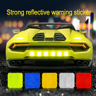 Square Car Reflective Sticker Safety Warning Strip Truck Backpack Bicycle Decal