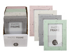 Pastel Coloured Plastic Photo Frame In Wooden Optic - 10x15cm Family Pictures
