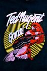 Vintage 70s Ted Nugent Gonzo Tshirt with Two Concert Ticket Reprint S-4XL B521 image