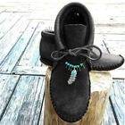 Women Lace Up Ankle Boots Vintage Round Toe Moccasin Flat Heel Snow Boots Shoes