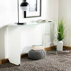 """Safavieh Crysta Ombre Glass Console Table - Clear / White - White, Clear 43.3"""" x"""