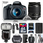 Canon EOS Rebel T7 DSLR Camera with 18-55mm Lens - Choose your Memoey Size Kit
