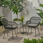 Orlando Outdoor Woven Faux Rattan Chairs With Cushions (set