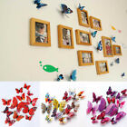 Diy Kid Decor 12pcs Wall Butterfly Stickers Pvc Home Room Decoration 3d Decal