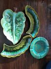 Vintage 1960s 4 piece ashtray and chip and dip set all made in California