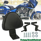 Motorcycle Rear Backrest Sissy Bar w/ Passenger Seat Foot Pegs for Victory USA