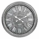 27 galvanized wall clock metal frame accurate quartz timing rustic finishes