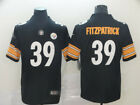New Mens Pittsburgh Steelers 39 Minkah Fitzpatrick Black Player Game Jersey