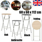 Foldable Dining Bar Table Round Breakfast Table MDF Outdoor Pub Bistro Garden