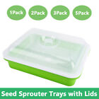 1pc 2pcs 3pcs 5pcs Seed Sprouter Tray w/ Lid,Seed Germination Tray  for Seedling