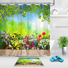 Spring Rustic Wildflowers In Bloom Sunshine Bokeh Shower Curtain Hooks Bath Mat