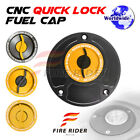 Gold Quick Lock Fuel Cap For Honda VTR 1000 All Year 00 01 02 03 04