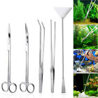 5/4/3pcs Aquarium Tools Kit Aquascaping Tank Aquatic Plant High Quality Tweezers