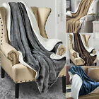 Luxury Soft Sherpa Fleece Blanket Solid Fuzzy Throw Reversible Bed Warmer Cover image