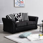 Farrow Leather Fabric 2, 3 Seater Corner Sofa Armchair Black or Brown Couch Home