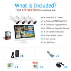 """ANRAN IP 1080P Security Camera System Wireless 4 8CH 15""""Monitor CCTV 1TB Outdoor"""