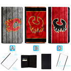 Calgary Flames Leather Passport Holder Cover Case Travel Wallet $7.99 USD on eBay