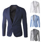 Men  Autumn Outwear Top Solid Color Casual Business Suit Blazer JacketCode