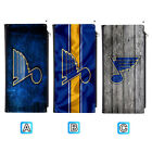 St. Louis Blues Long Thin Leather Wallet Clutch Purse Card Holder $13.99 USD on eBay