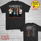 Maroon 5 t Shirt North American tour dates 2020 T-Shirt Size Men Black M-2XL image