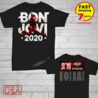 Bon Jovi Bryan Adams Shirt US tour 2020 T-Shirt Size M-2XL Men Black image