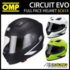 SC613 OMP Circuit EVO Helmet Full Face in 3 Colours XS-XXL Track Day / Karting