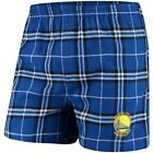 Golden State Warriors Concepts Sport Huddle Flannel Boxer Shorts - Royal/Black on eBay