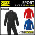 IA01847E OMP SPORT RACE SUIT ENTRY LEVEL OVERALLS NOMEX FIREPROOF FIA 8856-2000