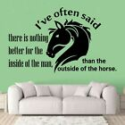 Nothing Better Horse Quote Vinyl Wall Art Decor Sticker For Home Room Decals