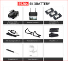 Drone WIFI FPV Quadcopter With 4K/1080P HD Wide Angle Camera Foldable Drone