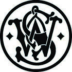 Smith and Wesson S&W Logo 2A Pistol Vinyl Decal Sticker Car Truck Window noBS