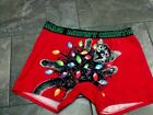 Nwt MAD ENGINE mens boxer briefs RED CAT W/LIGHTS