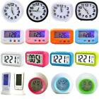 Display Beside Desk LED Night Light Digital Alarm Clocks Calendar Home Decor