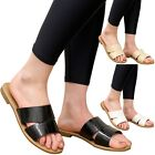 New Ladies Summer Beach Sandals Women Croc Sliders Casual Flats Mules Shoes Size