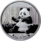 30g China Panda 2017 - Bull & Bear Panda Black & White 2017