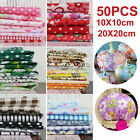 Kyпить 100/50pcs DIY Assorted Pre Cut Charm 10/20cm Cotton Squares Quilt Fabric Quarter на еВаy.соm