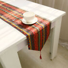 Bohemian Table Flag Runner Mat Home Decor Party Linen Vintage Tassel Placemat