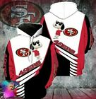 San Francisco 49ers Sno0py 3D Hoodie All Over Print Pullover S-3XL $42.99 USD on eBay