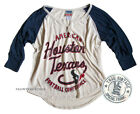 Junk Food NFL Houston Texans Color Block 3/4 Sleeve Raglan t-shirt  Front Button $25.0 USD on eBay