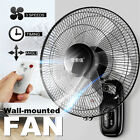 220V 3 Gears Oscillating Wall Mounted Adjustable Fan Home Cooling Timer +
