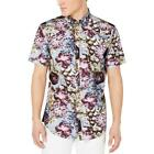 INC Mens Tee Cotton Floral Print Button-Down Shirt Shirt BHFO 9365 <br/> Guaranteed Authentic  INC Sugg. Price:  $49.50
