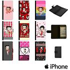 BETTY BOOP RED CIRCLE KISS CARTOON FLIP WALLET PHONE CASE COVER APPLE iPhone £8.49 GBP on eBay